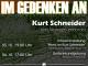 Termine Kurt Schneider